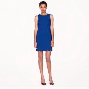 Jcrew scallop royal blue dress